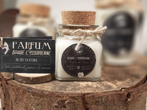 Bougie artisanale Bois Fleuri