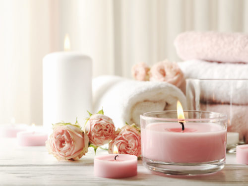 Bougies notes florales